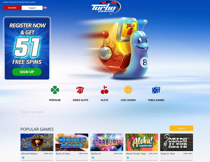 Turbo Casino screenshot