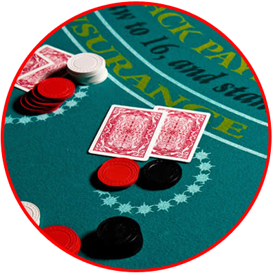 Blackjack spelen button
